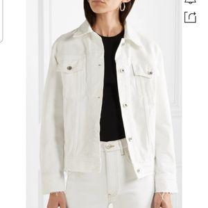 Rag & Bone Raw Edge White Denim Jacket